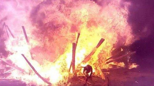 В Коростене произошел взрыв во время гуляний (видео)