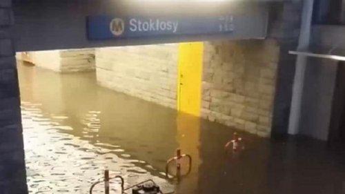 На Варшаву обрушился мощный ураган (видео)