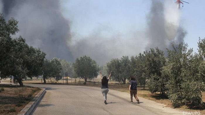 Лесные пожары в Греции: эвакуированы более 600 человек