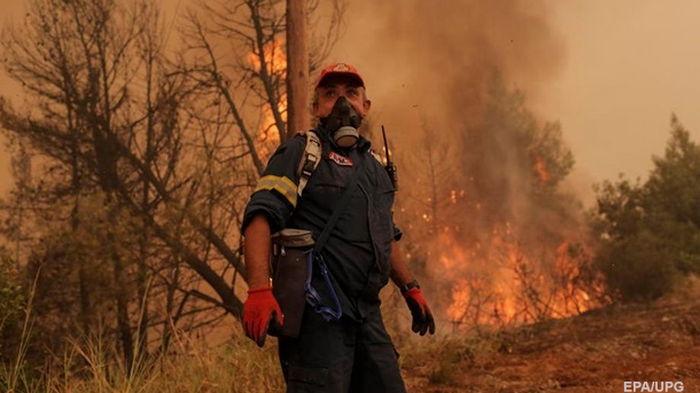 В Греции на острове Эвбея вспыхнул новый пожар