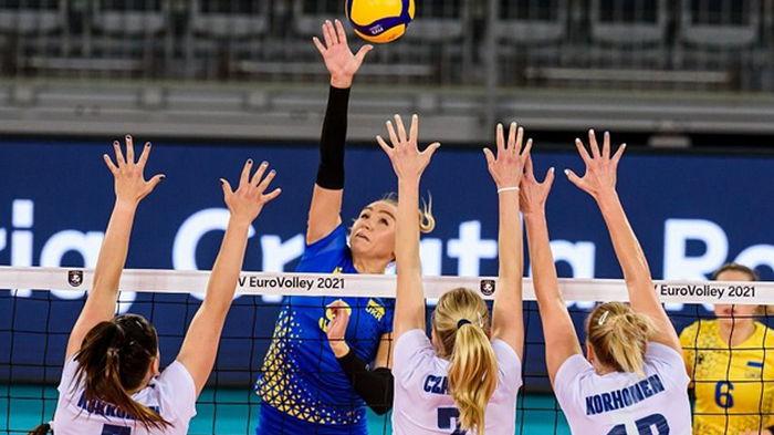 Женская сборная Украины добыла первую победу на ЧЕ-2021 по волейболу