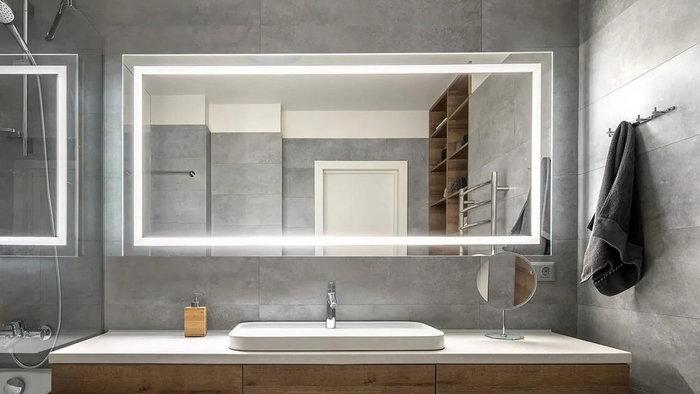 Лед зеркало в ванную: эффективные рекомендации выбора