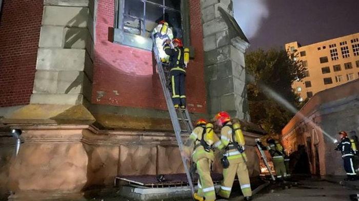 В Киеве локализировали пожар в соборе Святого Николая