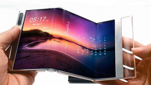Samsung показала рабочий смартфон, который гнется в трех местах (видео...