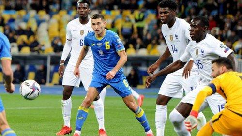Украина вновь сыграла вничью с Францией