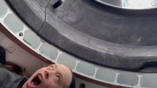 Пилот Crew Dragon сняла вид на Землю (видео)