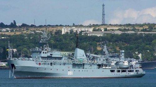 В Черном море терпит бедствие судно ВМС ВСУ