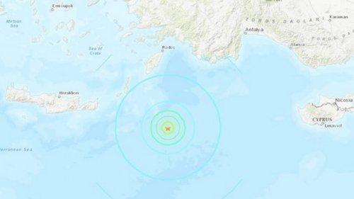 В Средиземном море зафиксировали сильное землетрясение