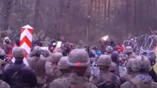Мигранты прорывались в Польшу, ранены два солдата (видео)